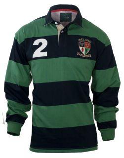 Croker Ireland Heritage Sage Navy Rugby Shirt Jersey Size M L XL 2XL