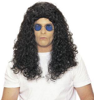 80s Hair Rock Howard Curly Black Slash Wig Costume New