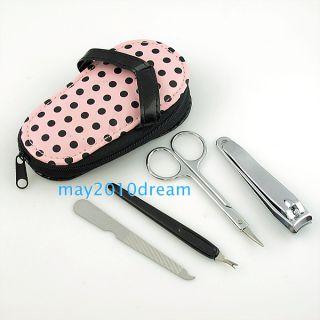 Professional Nail Clipper File Tweezer Cuticle Scissors Set Kit