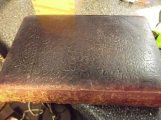 Oliver Goldsmith Leather Poetry Book Poems & Essays 1880s Crowell