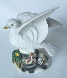 Vintage Crown Royal White Dove Bird Hand Painted Porcelain Figurine 6