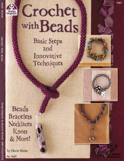 Crochet with Beads Jewelry Beaded Beading Craft Book Bracelets Neck