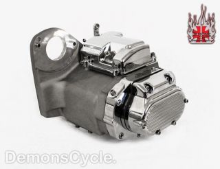 Speed Natural Chrome Transmission Fits Harley Softail