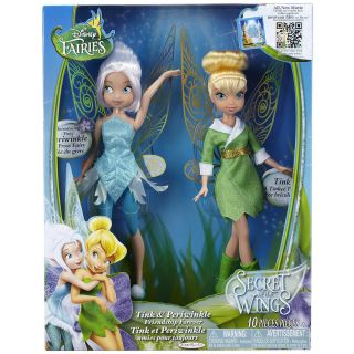 Disney Fairies Secret Wings 2 Dolls Tinker Bell and PERIWINKLE Friends