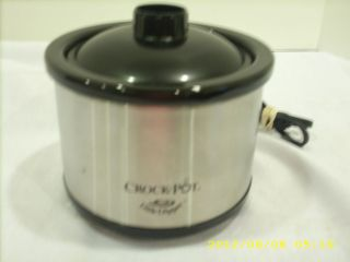 STAINLESS STEEL CROCK POT LITTLE DIPPER LID APPETIZER WARMER DIPS OR
