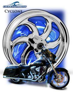 Cyclone Chrome Custom Motorcycle Wheels Harley Streetglide Roadglide