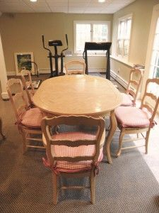 Country French Dining Room Table Chairs by Fremarc Designs Excellent
