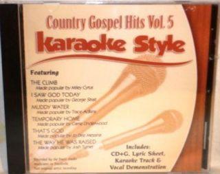 Country Gospel Hits V5 Christian Karaoke Music New CD G