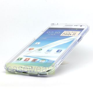 Crystal Clear Hard Case Snap on Phone Cover for Samsung Galaxy Note 2