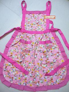 Sanrio Hello Kitty Kitchen Cooking Gardening Adults Apron Cotton