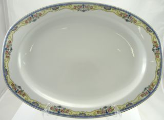 Thuny THU56 China Czechoslovakia Oval Serving Platter