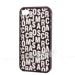 Black Deluxe Letter Protective Shell Cover for Apple iPhone 4 4G Case