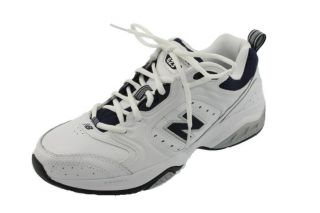 White Leather Low Top Lace Up Cross Training Shoes Sneakers 11