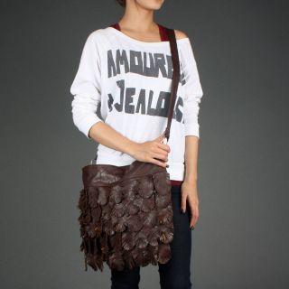 Fringe Large Hippie Slouch Crossbody Shoulder Bag Tote