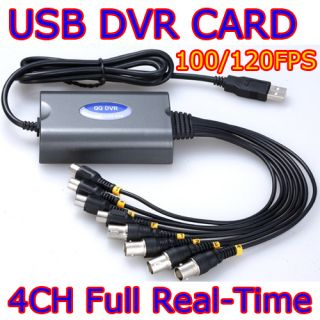 USB DVR Video Audio D1 Real Time Capture Card Windows 7 64 Bits