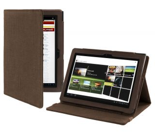 Cover Up Sony Tablet S 9 4 Inch Natural Hemp Version Stand Case Cocoa