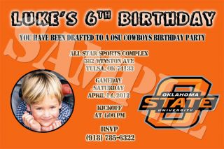State Cowboys Custom Birthday Party Invitations Personalized