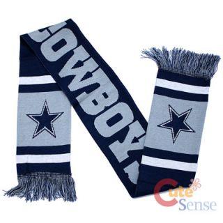 Dallas Cowboys Kinnited Scarf 62 Long NFL Team Logo Banner Scarf 12