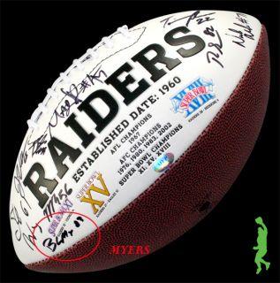 2012 Oakland Raiders Team Signed NFL Football Darrius Heyward Bey COA