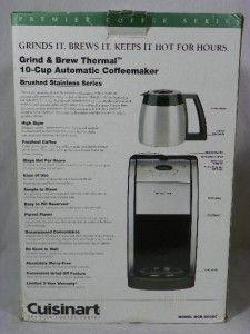 CUISINART Grind & Brew Thermal Stainless Steel 10 Cups Coffee Maker