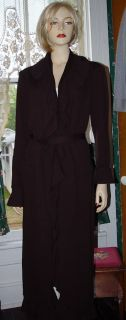 ST JOHN SANTANA KNIT FULL LENGTH MAHOGANY JACKET~KELLY COAT SZ 14 & 16