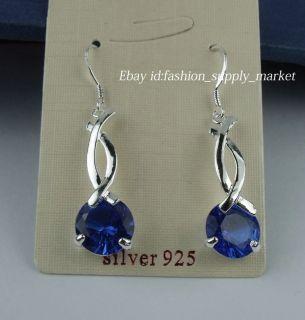 Nice Fashion Silver Crystal Dangle Drop Earrings