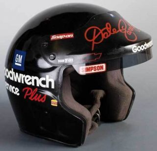 Dale Earnhardt Simpson open face full scale racing helmet early to mid