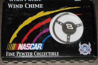 DALE EARNHARDT JR 8 PEWTER STEERING WHEEL WIND CHIME NEW IN BOX NASCAR