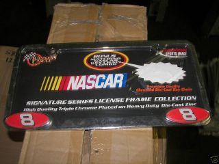 Dale Earnhardt Jr Chrome Metal License Plate Frame