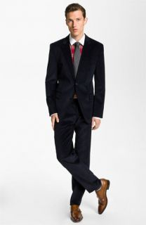 BOSS Black Corduroy Suit & Dress Shirt