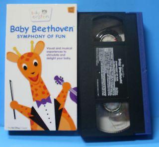Baby Beethoven Disney Baby Einstein Children Kids VHS Video Tape Music