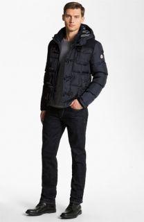 Moncler Hooded Quilted Bomber Jacket, Save Khaki T Shirt & rag & bone Straight Leg Jeans