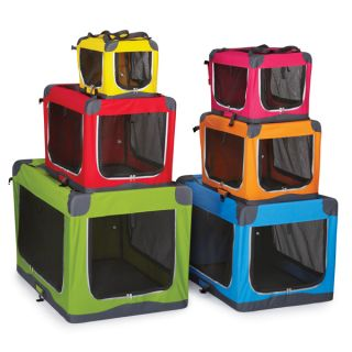 Pioneer Soft Crates for Dogs Sturdy Fold Down Steel Frame XXS Yellow