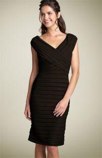 Tadashi Shoji Shutter Pleat Jersey Dress