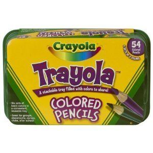 Crayola 54ct pcs col Trayola Colored Pencils assorted pencil set NEW