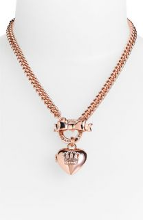 Juicy Couture Crown Icons Heart Locket Necklace