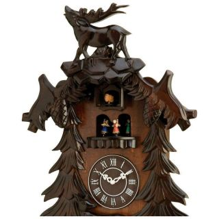 New Cuckoo Clocks   Black Forest Kassel Cuckoo Wood Wall Clock deer