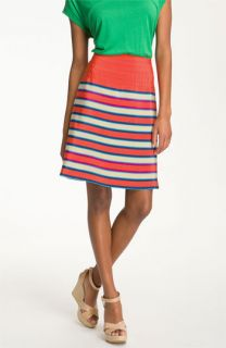 MARC BY MARC JACOBS Jacobson Stripe Silk A Line Skirt