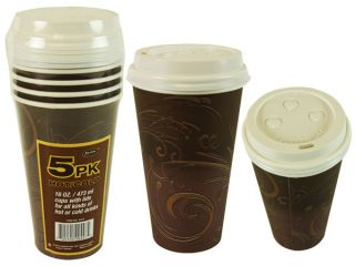 Axxion Hot Cold Paper Cup with Lids 16 oz 240pcs Case
