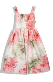 Sweet Heart Rose Floral Print Sleeveless Dress (Little Girls)