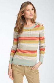 Tory Burch Icifera Print Button Shoulder Sweater