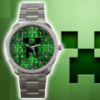 Minecraft Creepers Metal Sport Watch PC Games XBox New Green