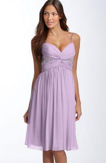 Maggy London Twist Bodice Chiffon Dress
