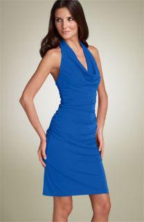Nicole Miller Matte Jersey Halter Dress