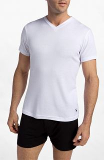 Polo Ralph Lauren V Neck T Shirt (Big) (2 Pack)