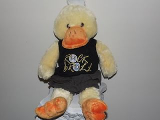 stuffed animal plush duck rock roll t shirt dandee toy EUC 18 H