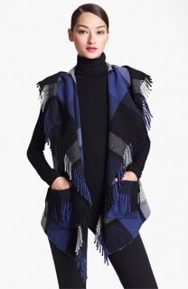 Donna Karan Collection Hooded Plaid Vest