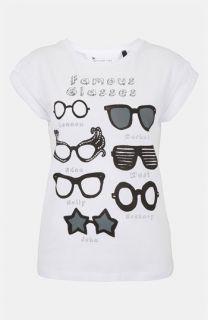 Topshop Famous Glasses Graphic Tee (Petite)