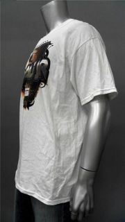 NASCAR National Guard Dale Jr Mens XL White Crew Neck T Shirt Tee