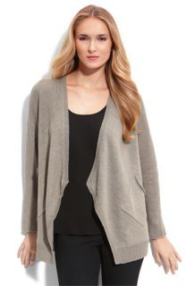 Eileen Fisher Angled Front Linen Cardigan